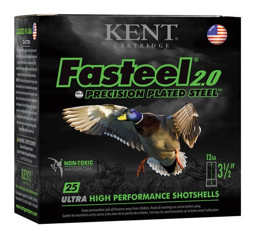"Kent Fasteel Waterfowl 12 Ga, 3.5"" 1-1/4oz, 3 Shot, 25rd/Box"