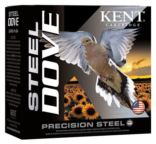 "Kent Steel Dove 12 Ga, 2.75"", 1-1/8oz, 250rd/Case"