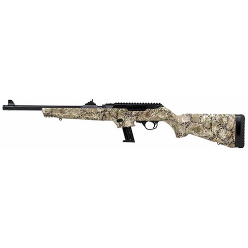 "Ruger PC9 Carbine 9mm 16"" Fluted Barrel Badlands Camo 15rd Mag"