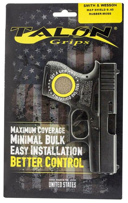 Talon S&W M&P Shield 9/40 Rubber Adhesive Grip Textured Rubber Moss