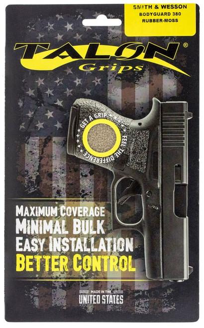 Talon S&W Bodyguard 380 Rubber Adhesive Grip Textured Moss