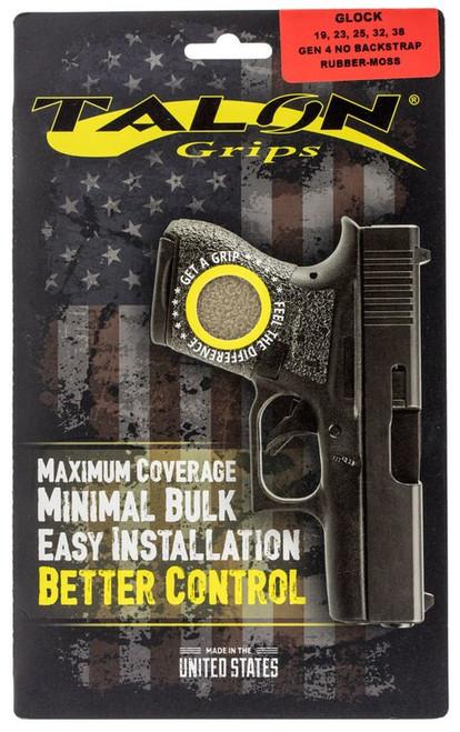 Talon Glock 19/23/25/32/38 Gen 4 without Backstraps Rubber Adhesive Grip T