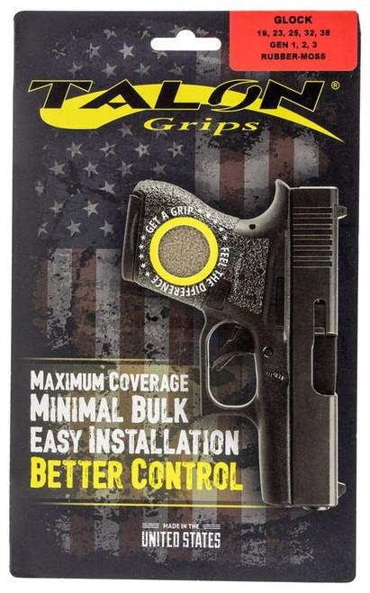 Talon Glock 19/23/25/32/38 Gen 1/2/3 Rubber Adhesive Grip Textured Moss