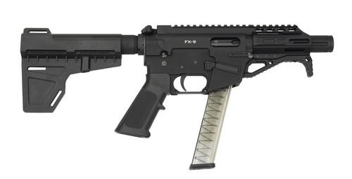 "Freedom Ordnance FX9 9mm, 4.5"" Barrel, Aluminum Frame, Black, Plastic Grip, Manual Safety, Uses Glock Style Magazines, 31Rd, 1 Magazine"
