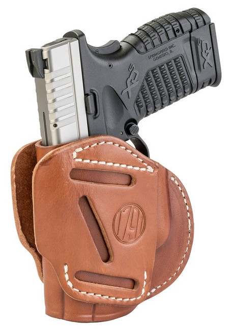 1791, 3 Way Holster, Outside Waistband Holster, Size 4, Ambidextrous, Classic Brown, Leather