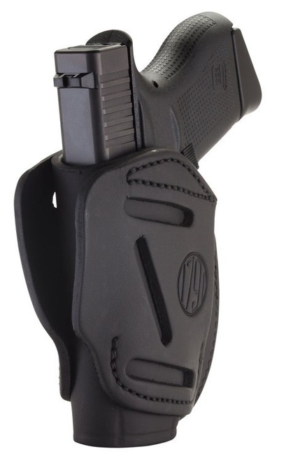 1791 Gunleather 3 Way Glock 42/Ruger LCP/S&W Bodyguard, Steerhide, Stealth Black