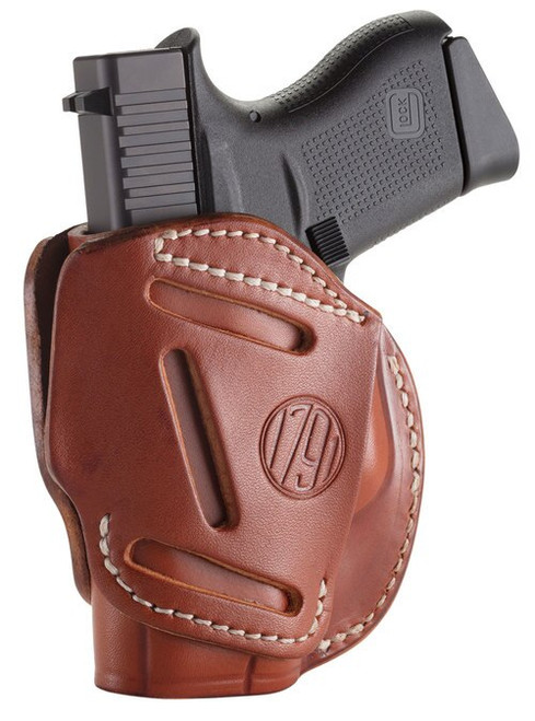 1791, 3 Way Holster, Outside Waistband Holster, Size 2, Ambidextrous, Classic Brown, Leather