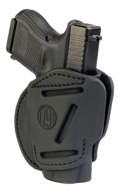 1791, 3 Way Holster, Outside Waistband Holster, Size 3, Ambidextrous, Stealth Black, Leather