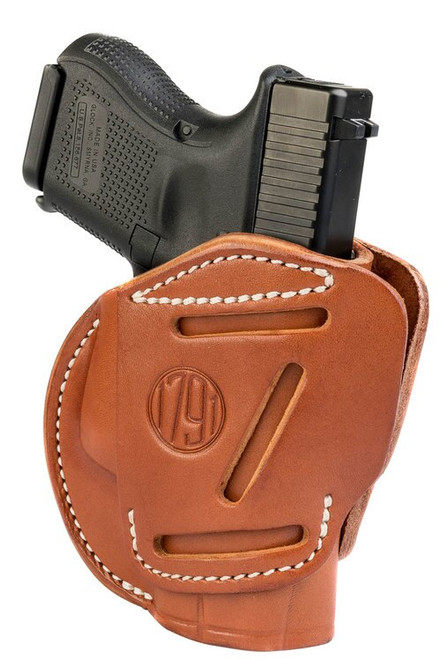 1791, 3 Way Holster, Outside Waistband Holster, Size 3, Ambidextrous, Classic Brown, Leather