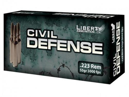 Liberty Ammo Silverado 223 Rem 55gr, LF Fragmenting BTHP, 20rd Box