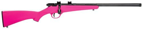 "Savage Rascal FV-SR Youth Action Rifle, 22 LR, 16.125"" Barrel, Pink Stock"