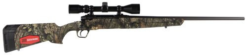 "Savage Axis XP Camo, 308 Winchester, 22"" Barrel, Black Color, Mossy Oak Break-Up Country Polymer Stock, Weaver 3-9x40 Scope, 4Rd, Detachable Box Magazine"