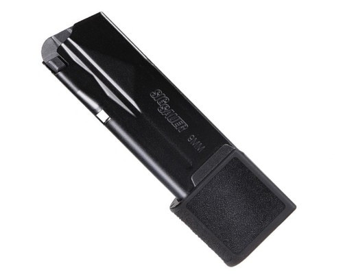 Sig P365 Micro Compact 9mm 15 rd Magazine, Metal, Black, Factory