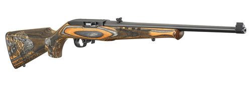 "Ruger 10/22, .22 LR,  18.5"", 10rd, Orange Laminated Tiger Stock"