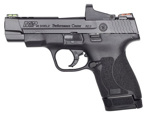 """Smith & Wesson M&P Shield M2.0 Performance Center 40 Smith & Wesson, 4"""", 6rd/7rd, 4 MOA Red Dot, Black"""