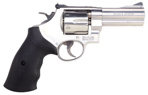 "Smith & Wesson 610 10mm, 4"" Barrel, Black Synthetic Grip, Stainless Steel Finish 6rd"
