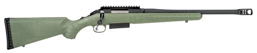 "Ruger American Predator 450 Bushmaster, 16.25"" Barrel, Adjustable Trigger, Green Synthetic Stock"