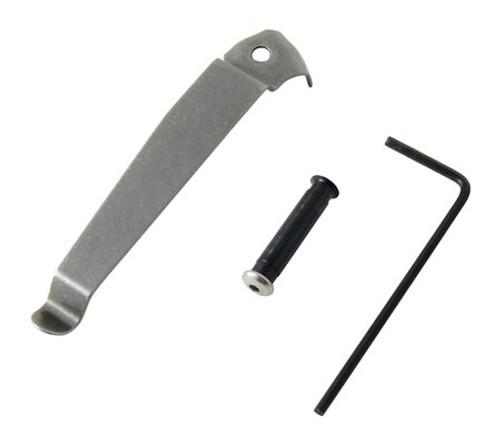 Kel-Tec P3AT, Left Side Belt Clip, Stainless