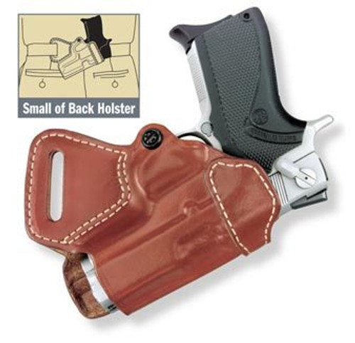 Gould and Goodrich Small of Back Holster, Fits Glock/S&W M&P, Chestnut Brown