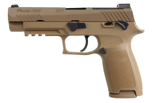 "Sig P320 M17, 9mm, 4.7"", 10rd, Siglite, Coyote PVD"