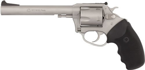 "Charter Arms Pit Bull, 9mm, 6"" Barrel, 5rd, Stainless"