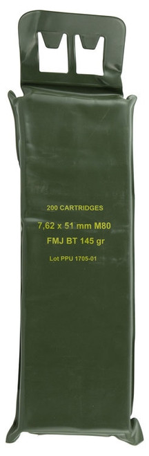 PPU Mil-Spec M80 Battle Pack 308 Win 145gr Full Metal Jacket, 200 Rd Pack