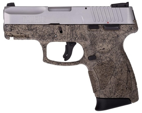 "Taurus G2c Splatter Edition Compact 9mm 3.25"" Barrel Flat Dark Earth Frame Black Splatter, SS Slide"