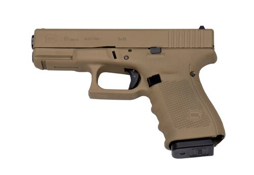 "Glock 19 Gen4, 9mm, 4.02"" Barrel, 15rd, Flat Dark Earth"
