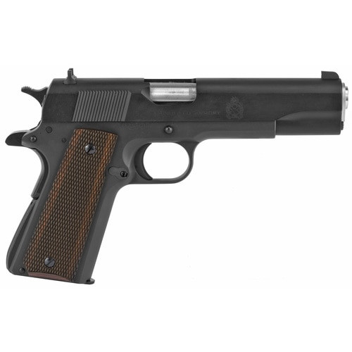 "Springfield 1911 Defender Mil-Spec 45 ACP 5""Barrel Wood Grip Black Parkerized Carbon Steel Slide"