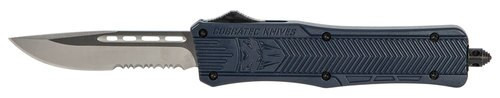 """CobraTec CTK-1 Medium OTF, 3"""", 440C Stainless Steel, Drop Point Serrated, NYPD Blue"""