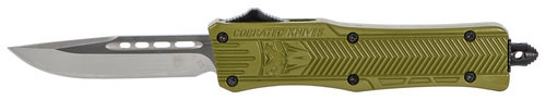 "CobraTec CTK-1 Small OTF, 2.75"", 440C Stainless Steel, Black Drop Point, Olive Drab Green Zinc-Aluminum Alloy"