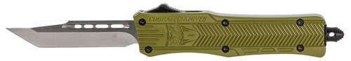 "CobraTec CTK-1 Small OTF, 2.75"", 440C Stainless Steel, Black Tanto, Olive Drab Green Zinc-Aluminum Alloy"