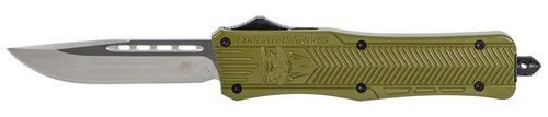 "CobraTec CTK-1 Medium OTF, 3"", 440C, Stainless Steel, Drop Point, Olive Drab Green Zinc-Aluminum Alloy"