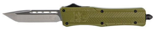 "CobraTec CTK-1 Medium OTF, 3"", 440C Stainless Steel, Black Tanto Blade, Olive Drab Green Zinc-Aluminum Alloy"