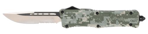 "CobraTec CTK-1 Medium OTF, 3"", 440C Stainless Steel, Drop Point, Army DigiCamo Zinc-Aluminum Alloy"
