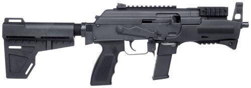 "Charles Daly PAK9 9mm 6.3"" Barrel Glock Mag, Brace, 10rd Mag"