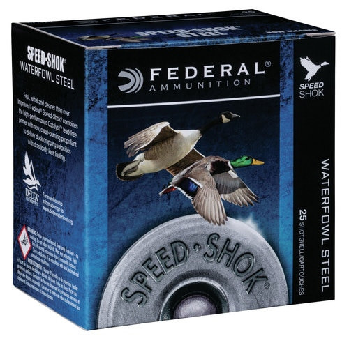 "Federal Speed-shok 12 Ga, 3"", 1 1/8oz, Steel, 25rd/Box"