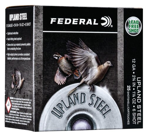 "Federal Upland Steel 12 Ga, 2.75"", 1 1/8oz, Steel, 25rd/Box"