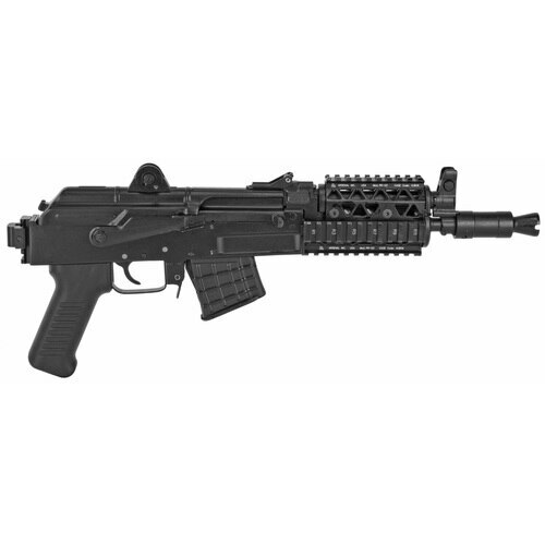 "Arsenal SAM7K-04R Pistol, 762X39, 10.5"", Steel, Black, Adjustable Sights, Quad RailRear Attachments"