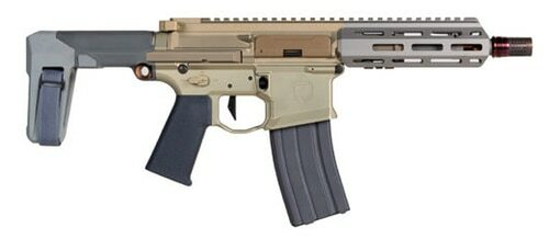 "Q LLC Honey Badger AR-15 Pistol 300 Blackout 7"" Barrel Flat Dark Earth"