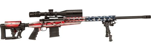 "Howa APC .308 Win Scope Combo, 26"" #6 Threaded Barrel, 4-16x50mm Nikko Stirling Scope, Mag Kit, Hogue Grip, LUTH-AR MBA-4 Stock, American Flag, 10rd"