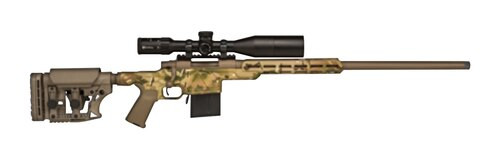 Howa Australian Precision Chassis Rifle, 6.5 Creedmoor Scope Combo, MAG Kit, Aluminum Chassis, Rings Multicam/Fde