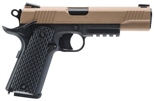 """Umarex Colt M45 CQBP, .177 BB, 4.5"""" Barrel, 19rd, Black/Tan"""