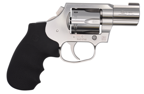 "Colt King Cobra Carry Revolver 357 Mag/38 Special 2"" SS Barrel Black Hogue Overmolded Grip"