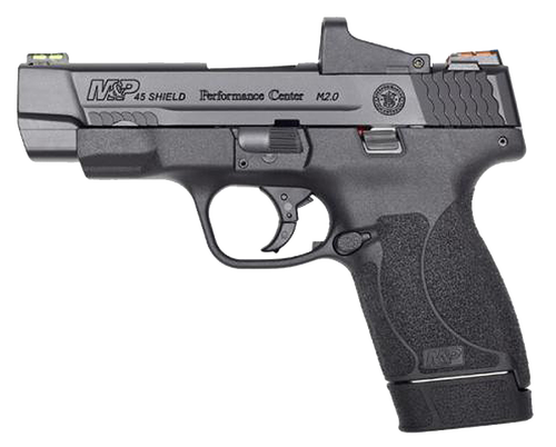 "Smith & Wesson Shield M2.0 Performance Center 45 ACP, 4"" 6rd/7rd, Black"