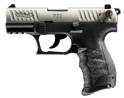 "Walther P22 Q .22 LR, 3.42"" Barrel, Black/Nickel, 10rd"