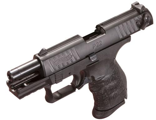 """Walther P22 Q .2 2LR, 3.42"""" Barrel, 3-Dot Combat, Black, 10rd"""