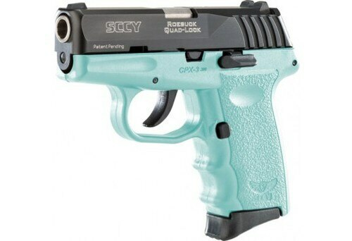 SCCY CPX3-CB 380 ACP, Black/Blue, No Safety, 10rd Blk/SCCY Blue w/o Safety