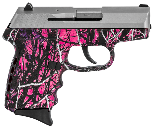 """SCCY CPX-2 Carbon 9mm, 3.1"""" Barrel, Mud Polymer Grip, Stainless Steel Slide, 10rd"""