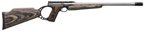 """Browning Buck Mark Target Rifle 22LR, 18.5"""" Barrel, Green Laminate, Muzzle Brake"""